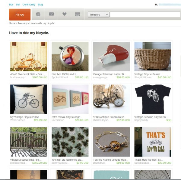 I love to ride my bike ~ etsy treasury